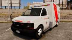Brute Speedo RLMS Ambulance [ELS] für GTA 4