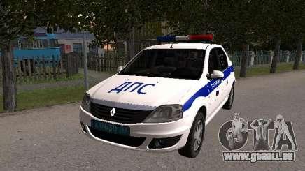Renault Logan ДПС für GTA San Andreas