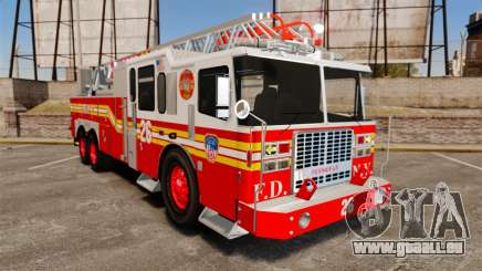 Ferrara 100 Aerial Ladder FDNY [working ladder] pour GTA 4