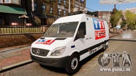 Mercedes-Benz Sprinter TF1 News [ELS] pour GTA 4