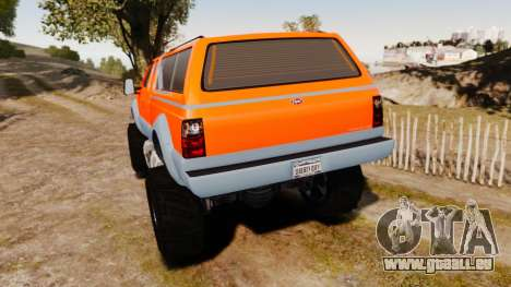 GTA V Vapid Sandking XL wheels v2 pour GTA 4 Vue arrière de la gauche