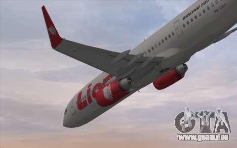 Lion Air Boeing 737 - 900ER pour GTA San Andreas vue de droite