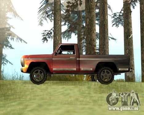 La Nouvelle Jeep (Yosemite) pour GTA San Andreas laissé vue