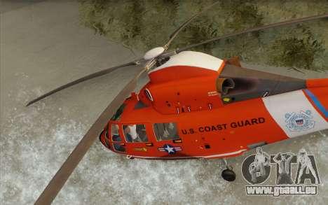 AS 365N Dauphin für GTA San Andreas Rückansicht