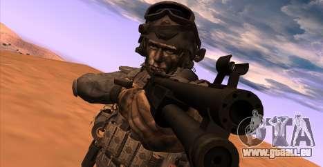 Le lieutenant David l'hesh Walker из Call Of Dut pour GTA San Andreas quatrième écran