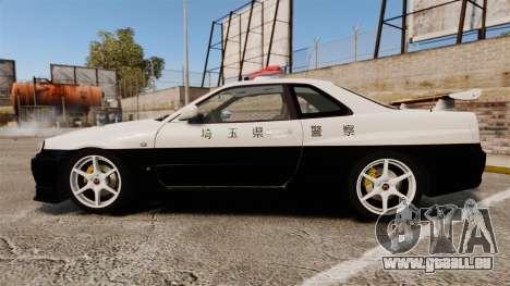 Nissan Skyline GT-R R34 Saitama Police für GTA 4 linke Ansicht
