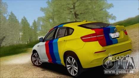 BMW X6M E71 2013 300M Wheels für GTA San Andreas Unteransicht