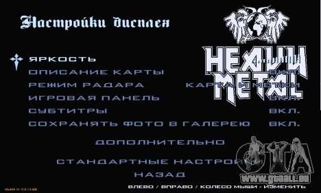 Heavy Metal Menu V.1 für GTA San Andreas siebten Screenshot