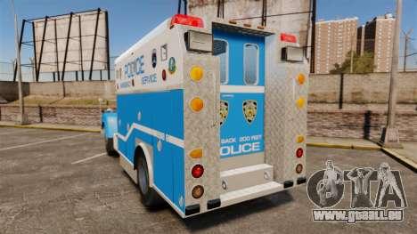 Mack R Bronx 1993 NYPD Emergency Service [ELS] für GTA 4 hinten links Ansicht
