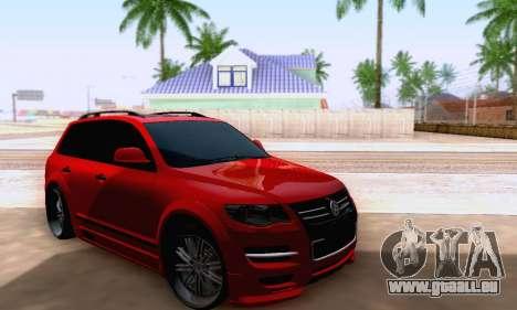 Volkswagen Touareg Mansory pour GTA San Andreas vue de droite