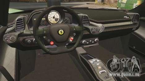 Ferrari 458 Spider Speciale pour GTA 4 Vue arrière