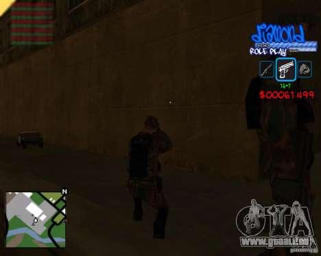 C-Hud Diamond RP pour GTA San Andreas quatrième écran