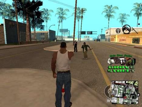 С-HUD Grove Street für GTA San Andreas zweiten Screenshot