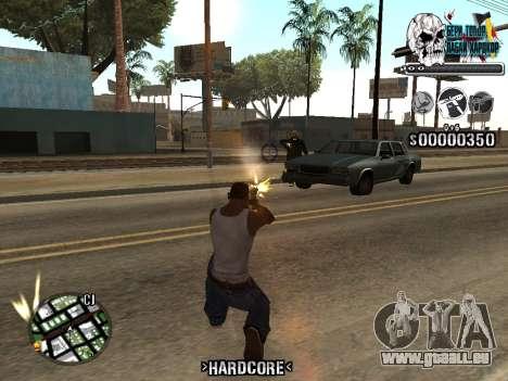 C-HUD Hardcore By KD pour GTA San Andreas cinquième écran