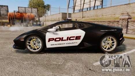 Lamborghini Huracan Cop [Non-ELS] pour GTA 4 est une gauche