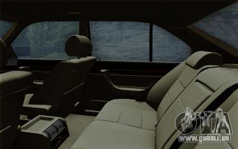 BMW 540i (E34) pour GTA San Andreas vue de dessous
