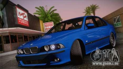 BMW E39 M5 2003 für GTA San Andreas zurück linke Ansicht
