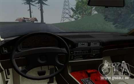 BMW 540i (E34) pour GTA San Andreas vue de dessus
