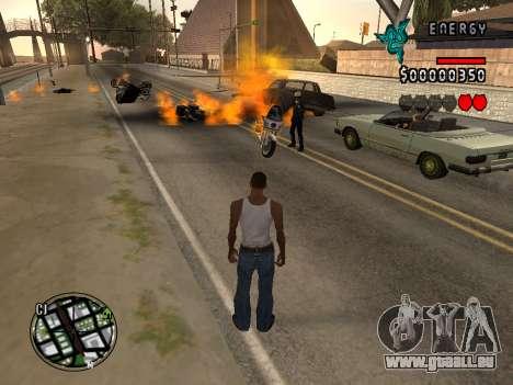 C-HUD Energy pour GTA San Andreas troisième écran