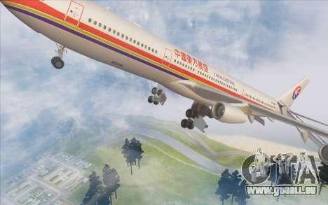 Airbus A340-300 China Eastern pour GTA San Andreas vue de dessous
