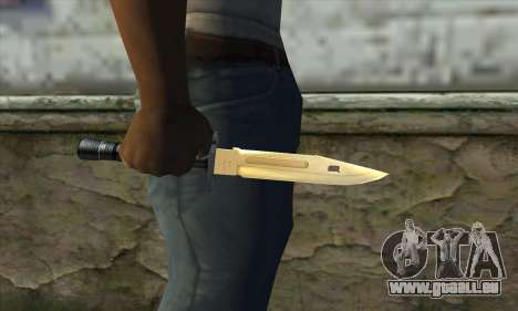 Golden Knife für GTA San Andreas dritten Screenshot