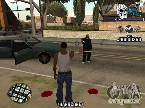 C-HUD Hardcore By KD pour GTA San Andreas deuxième écran