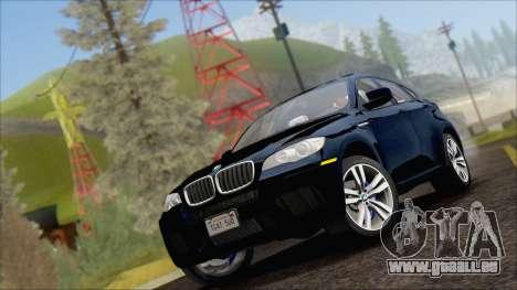 BMW X6M E71 2013 300M Wheels für GTA San Andreas zurück linke Ansicht
