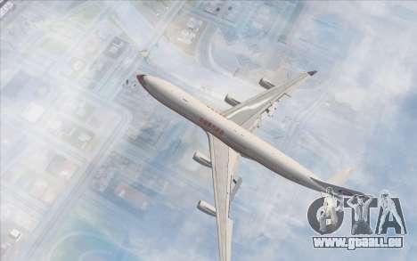 Airbus A340-300 China Eastern pour GTA San Andreas sur la vue arrière gauche