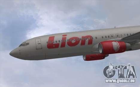 Lion Air Boeing 737 - 900ER pour GTA San Andreas sur la vue arrière gauche