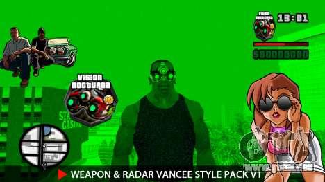 Arme & Radar VanCee Style Pack v1 pour GTA San Andreas douzième écran