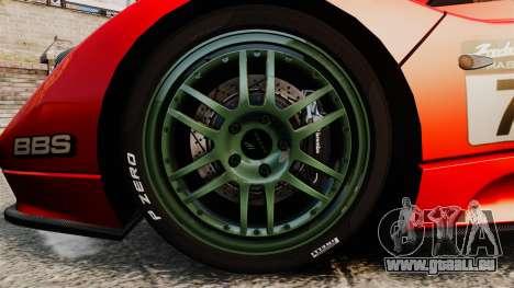 Pagani Zonda C12 S Roadster 2001 PJ6 pour GTA 4 Vue arrière