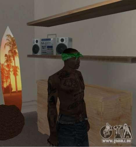 Neue bandanas für CJ für GTA San Andreas siebten Screenshot