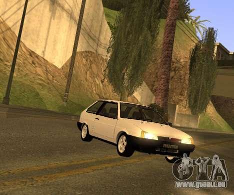 ВАЗ 2108 GVR Version 2.0 pour GTA San Andreas sur la vue arrière gauche
