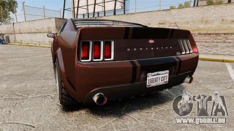 GTA V Vapid Dominator wheels v1 pour GTA 4 Vue arrière de la gauche