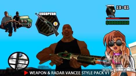 Arme & Radar VanCee Style Pack v1 pour GTA San Andreas cinquième écran