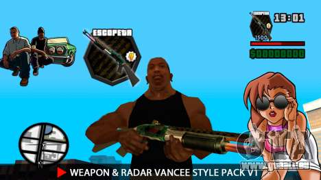 Waffe & Radar VanCee Style Pack v1 für GTA San Andreas fünften Screenshot