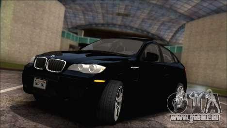 BMW X6M E71 2013 300M Wheels für GTA San Andreas Innenansicht