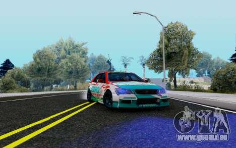 Toyota Altezza Addinol pour GTA San Andreas vue arrière