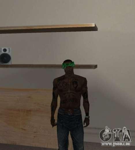 Nouveau bandanas pour CJ pour GTA San Andreas cinquième écran