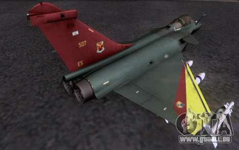Dassault Rafale M pour GTA San Andreas vue intérieure