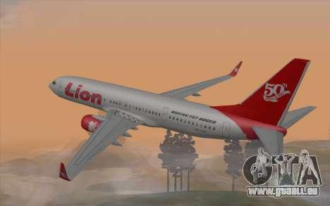Lion Air Boeing 737 - 900ER pour GTA San Andreas laissé vue