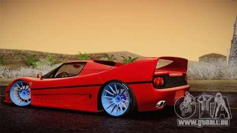 Ferrari F50 1995 pour GTA San Andreas laissé vue