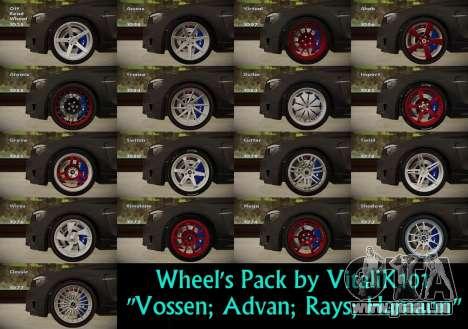 Wheels Pack by VitaliK101 für GTA San Andreas