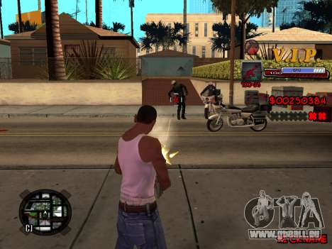 C-HUD VIP pour GTA San Andreas sixième écran