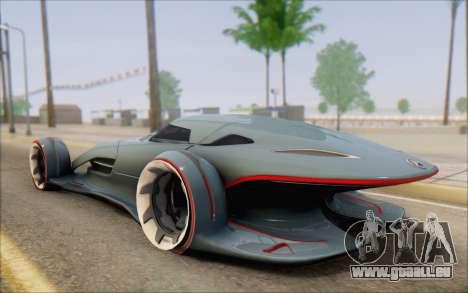 Mercedes-Benz SilverArrow pour GTA San Andreas laissé vue