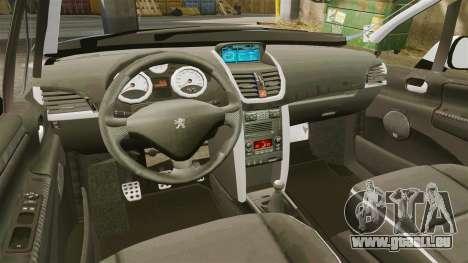 Peugeot 207 RC pour GTA 4 est une vue de l'intérieur