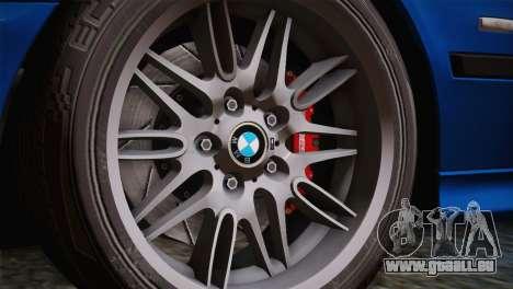 BMW E39 M5 2003 pour GTA San Andreas vue intérieure