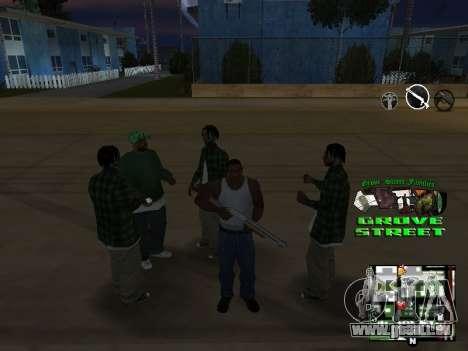 С-HUD Grove Street für GTA San Andreas fünften Screenshot