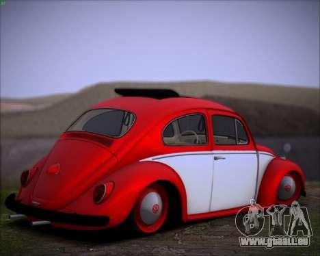 Volkswagen Beetle Stance pour GTA San Andreas sur la vue arrière gauche