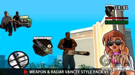 Waffe & Radar VanCee Style Pack v1 für GTA San Andreas